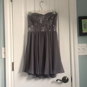 Moda Purple strapless dress